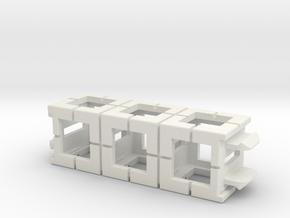 Rokenbok 3-block Beam in White Strong & Flexible