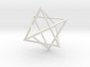 Merkaba Wire - 4cm in White Natural Versatile Plastic