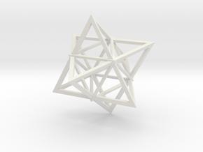 Merkaba Wire 1 5cm in White Natural Versatile Plastic