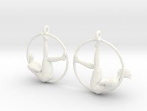 "earrings ""Hoop girl1"" in White Strong & Flexible Polished"