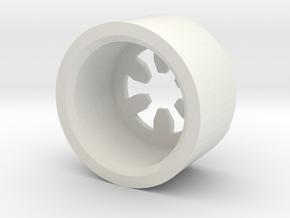 MBPI-B13-HEX in White Natural Versatile Plastic
