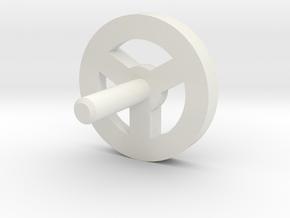 MBPI-A753-TRI in White Natural Versatile Plastic