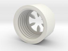 MBPI-B11-HEX in White Natural Versatile Plastic