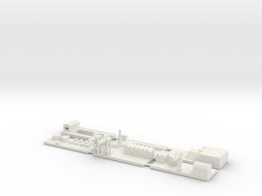 """1"""" Building Set 4 - Harbour in White Natural Versatile Plastic"""