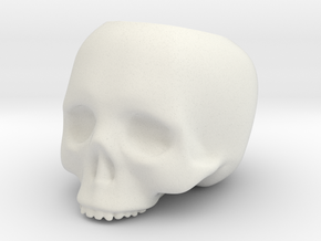 Skull Pot V3 - H60MM in White Strong & Flexible