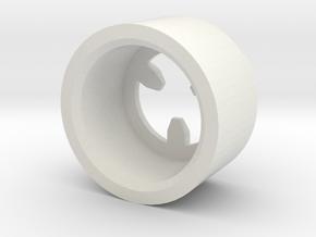 MBPI-B13-TRI in White Natural Versatile Plastic