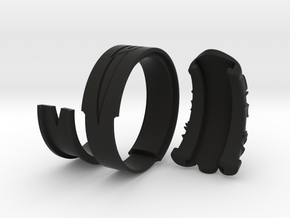 Vambrace Ring 9.5 in Black Natural Versatile Plastic