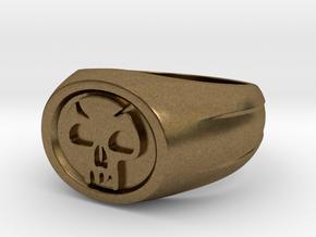 Black Mana Ring in Natural Bronze