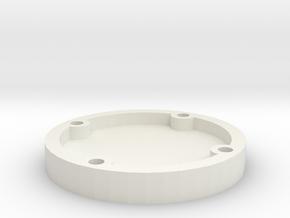 Belt Plaque 11 in White Natural Versatile Plastic