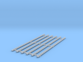 h0 Platte Vorst (6st) kruispannen in Smooth Fine Detail Plastic