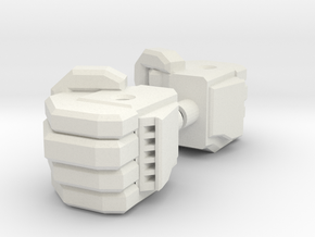 Kreon Combiner Fist in White Strong & Flexible
