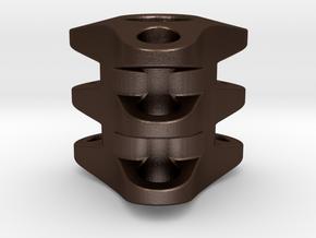 Triple Tritium Bead 1 (2.5x10mm Vials) in Matte Bronze Steel