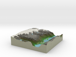 Terrafab generated model Thu May 15 2014 22:27:44  in Full Color Sandstone