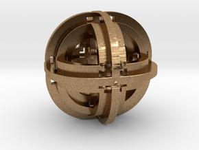Geometric Pendant 30mm D2 in Natural Brass