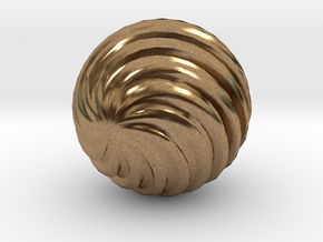 Wave Ball in Natural Brass