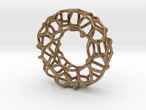 Organic Circle Pendant 2 in Natural Brass