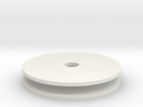 New Quarter Inch Mag Dial in White Natural Versatile Plastic