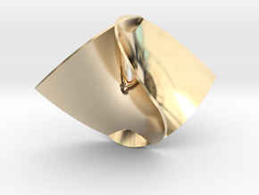 Enneper Minimal Surface in 14K Yellow Gold