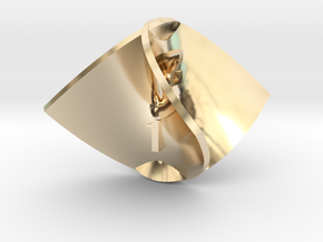 Enneper Surface d4 in 14K Yellow Gold