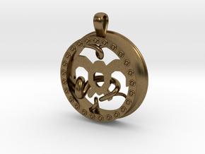 Wind Tamer 1 Inch Pendant in Natural Bronze