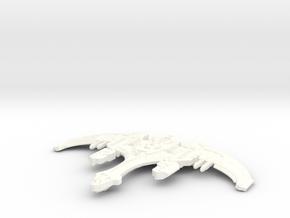 Kiraktor Class Klingon Destroyer in White Strong & Flexible Polished