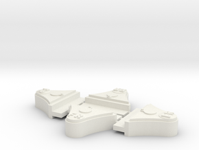 """FR 2 Ton 7/8"""" scale axleboxes in White Natural Versatile Plastic"""