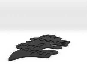 Bookmark-Marcapáginas in Black Natural Versatile Plastic