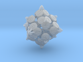Player Order Die - 3D Print Only Version in Smooth Fine Detail Plastic