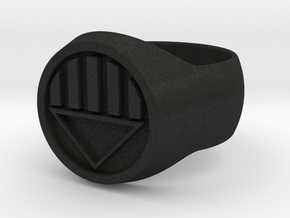 Black Lantern Ring Size W in Black Acrylic