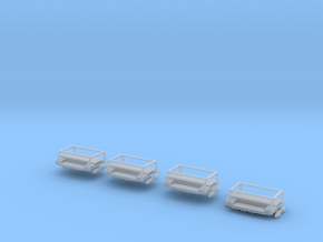 Dachaufsatz für Wechsellader Komplett 4mal in Smooth Fine Detail Plastic