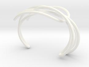 PENROSE SINGLE CUFF in White Processed Versatile Plastic