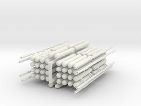 Tanks Module A in White Natural Versatile Plastic