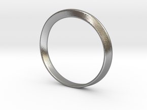 Mobius Strip Bracelet (48mm Inner Diameter) in Raw Silver