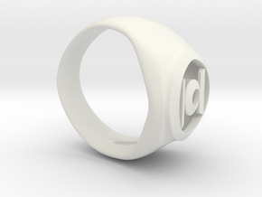 Green Lanturn Ring in White Natural Versatile Plastic