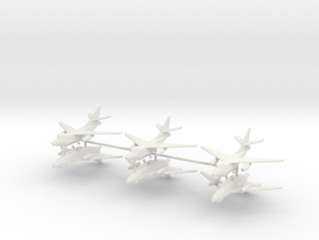 1/400 EA-3B Skywarrior (x6) in White Natural Versatile Plastic