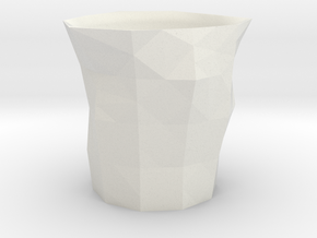 Polygon Little Cup in White Natural Versatile Plastic