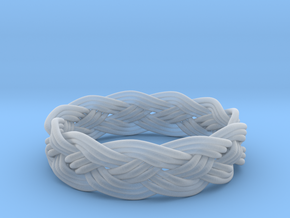 Turks Head Ring Knot  in Smooth Fine Detail Plastic