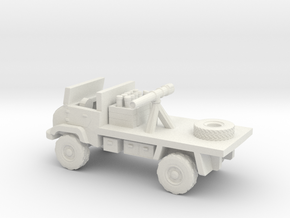 1:144 UNIMOG 404S Recoilless Rifle Carrier in White Natural Versatile Plastic