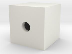 Hollowcube-rename in White Natural Versatile Plastic