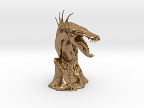 The Tuurasucha - Creature Sculpture (Small) in Natural Brass