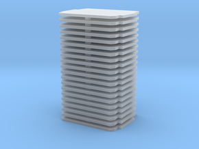Thin Compartments For GWR Bow Ended (0.6mm x 20) in Smooth Fine Detail Plastic