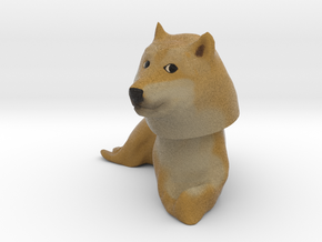 Doge Bobblehead in Full Color Sandstone