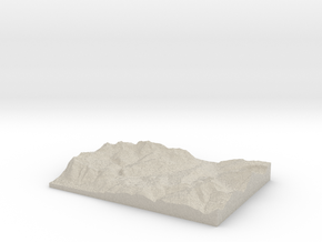 Model of Les Gets in Sandstone