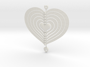 Heart Swap Spinner Flat Spiral - 15cm in White Strong & Flexible