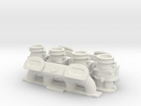 1 8 Ardun 2X4 Intake in White Strong & Flexible