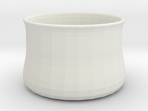 Vase1 in White Natural Versatile Plastic