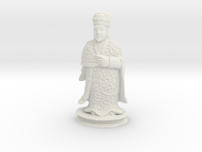 Traditional Cantonese Bishop Statuette 174mm in White Natural Versatile Plastic