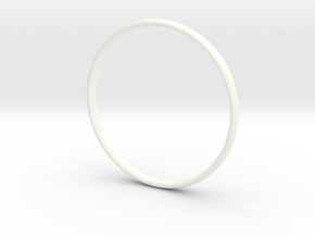 Bangle4 in White Processed Versatile Plastic
