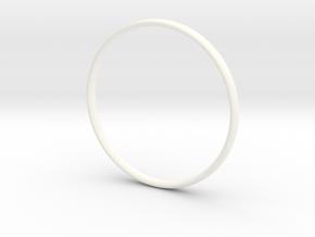 Bangle4 in White Processed Versatile Plastic