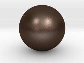 Sphere in Matte Bronze Steel
